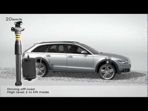 Audi A6 allroad quattro 2012 - How suspension works - Animation