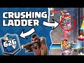 CRUSHING LADDER WITH HOG RIDER TOP 650 IN THE WORLD 5500 Trophy Pushing Clash Royale