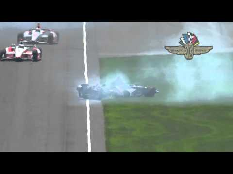 Kurt Busch Crash @ 2014 Indy 500 Practice