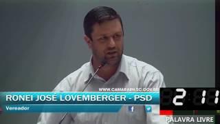 019 - Palavra livre 5, RONEI JOSÉ LOVEMBERGER (JUNHO, DIA 19 SESSÃO ORDINÁRIA 2017