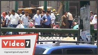 بالفيديو.. إجلاء مجمع التحرير ووصول تعزيزات أمنية للميدان عقب تفجيرات الاتحادية