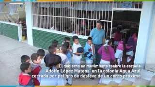 El gobierno en movimiento reabre la escuela Adolfo López Mateos