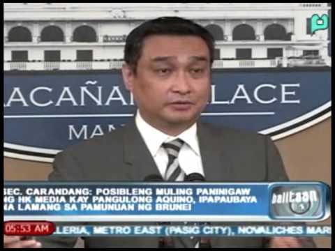 Posibleng muling paninigaw ng HK media kay PNoy, ipapaubaya na lamang sa pamunuan ng Brunei
