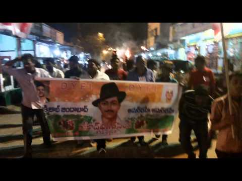 DYFI HYDERABAD BHAGAT singh vardanti at 23-03-2014 rally fm site-3 to borabanda