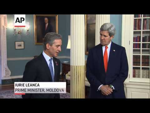 Kerry Meets Moldovan PM, Heads Later to Ukraine