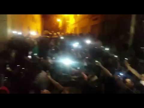 مظاهرة حاشدة بمنطقة سكن ناصر الزفزافي بالحسيمة