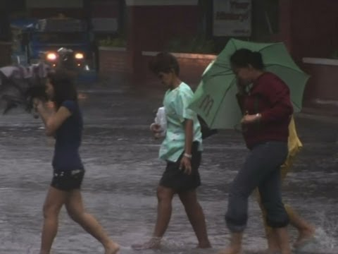 Raw: Typhoon Slams Into Philippines