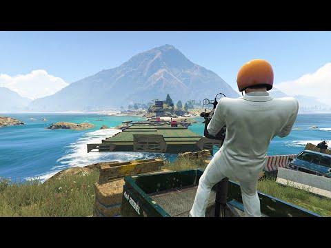 DEFEND THE ISLAND! (GTA 5 Funny Moments)