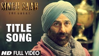 Singh Saab The Great Title Song Full Video Sunny Deol