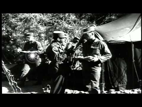 United States soldiers, in Korea,  are interviewed and pass Christmas greetings t...HD Stock Footage