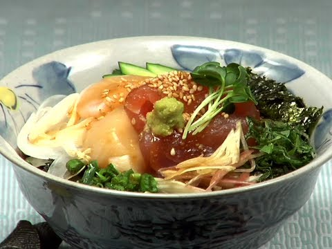 How to Make Kaisendon 海鮮丼の作り方 (Japanese Sashimi Rice Bowl)