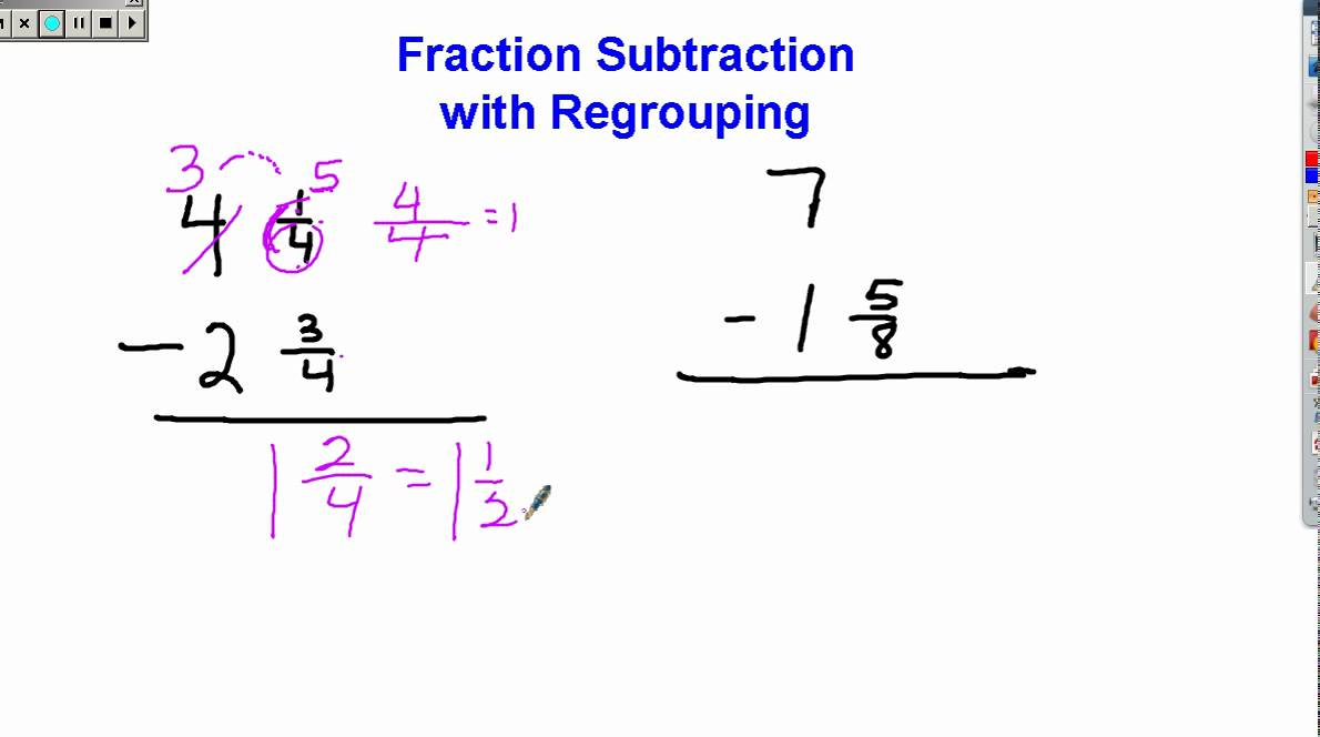 Worksheet 612792 Subtracting Fractions with Borrowing Worksheets – Subtracting Fractions with Borrowing Worksheet