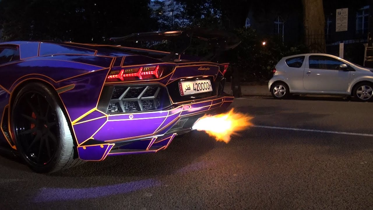 from decatted purple lamborghini aventador tron edition youtube