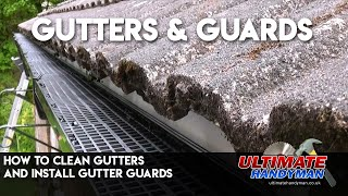 Gutter cleaning and fitting floguards
