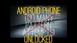 Unlock Android Phones After Too Many Pattern Attempts