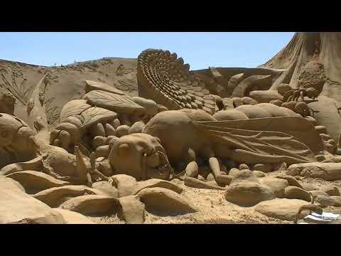 Esculturas Em Areia Pêra Fiesa Portugal (HD)