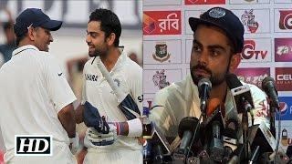 IANS : Virat Kohli's Emotional Message to M S Dhoni