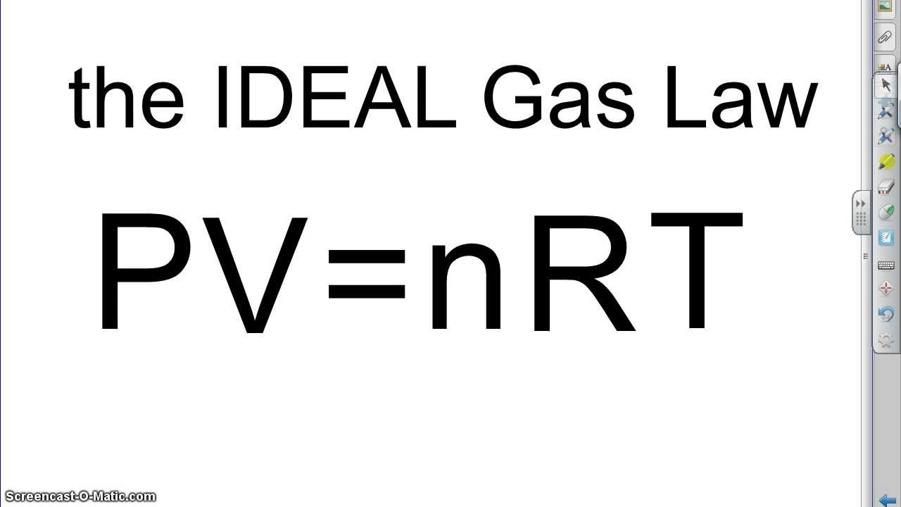What is the Ideal gas law? | Socratic