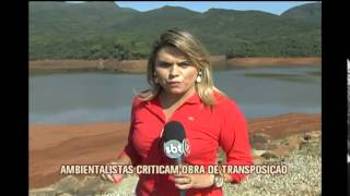 Ambientalistas criticam obra emergencial de transposi��o do Rio Paraopeba