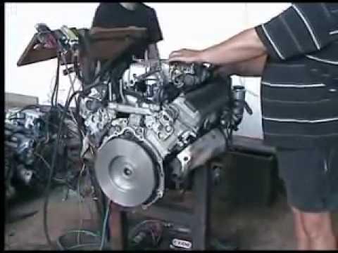 Двигатель 1UZ-FE заводят на стенде