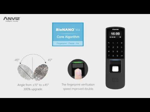 P7 controllo accessi biometrico ed rfid con PoE e tastiera touch video Anviz caratteristiche tecniche
