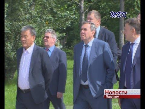 Накануне празднования 300-летия города Искитим посетил губернатор Новосибирской области