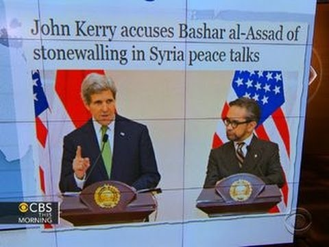 Headlines: Secretary of State John Kerry accuses Syrian leader of stonewalling peace talks