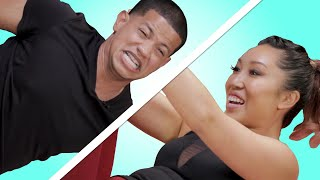 Guys Try Pilates For The First Time feat. Blogilates