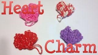 Heart Loom Band Charm Made Without The Rainbow Loom