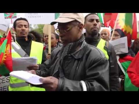 Demonstration against oromo massacre  2014 By ORO Tv OSLO Norway