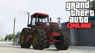 GTA 5 Online: Tractor With Rake Attachment Location! Rare