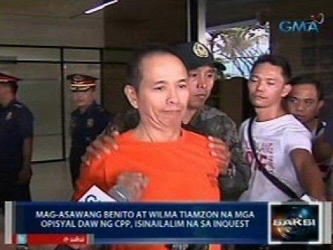 Saksi: Benito at Wilma Tiamzon na mga opisyal daw ng CPP-NPA-NDFP, na-inquest na