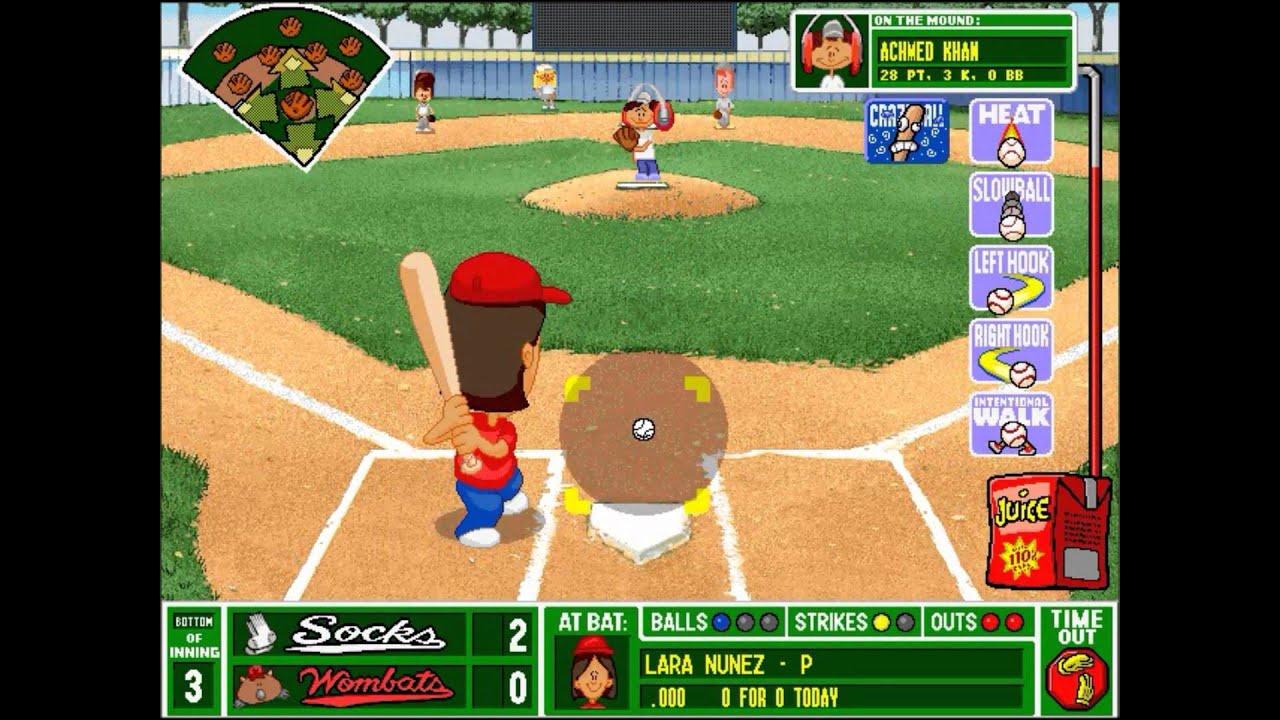 backyard baseball league pc tournament game 2 on fire youtube