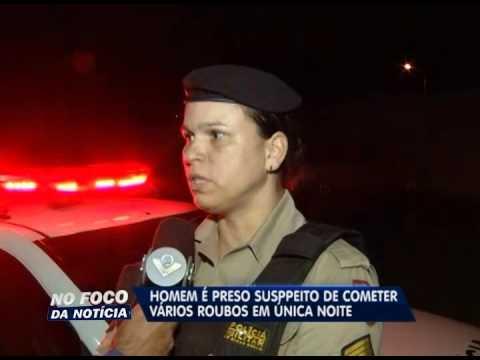 Homem é preso suspeito de cometer vários crimes na mesma noite