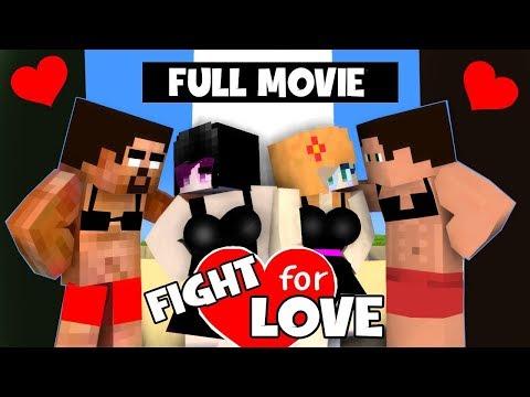 FULL MOVIE FUNNY LOVE STORY OF HEROBRINE (FIGHT FOR LOVE)  ALL SEASON - MONSTER SCHOOL