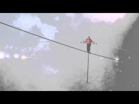 Nik Wallenda walks over Niagara Falls 2012