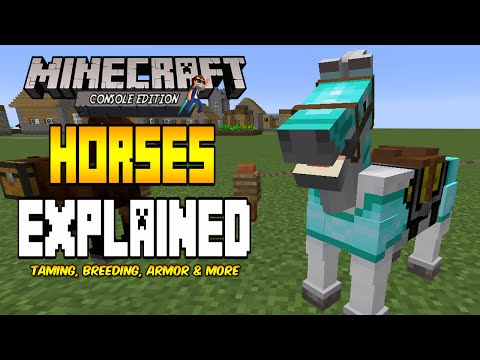 Minecraft [Console] Horses Explained - Breeding, Armor, Taming & More! (TU20 Tutorial)