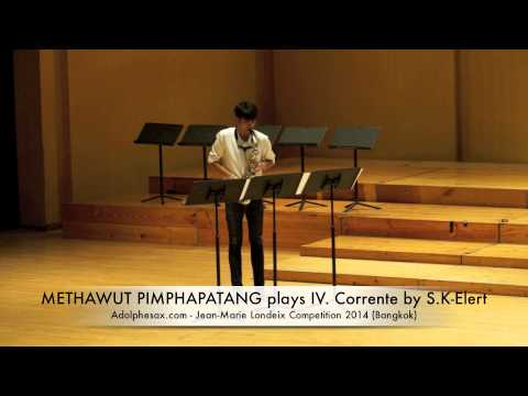 METHAWUT PIMPHAPATANG plays IV Corrente by S K Elert