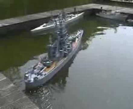 RC Model Navy ship Meeting at club RMI in Holland