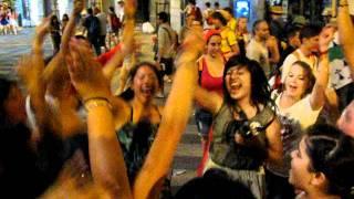 DJJJ/DJBAMBAM Spinning At Calle Arenal, Madrid, Spain 2011
