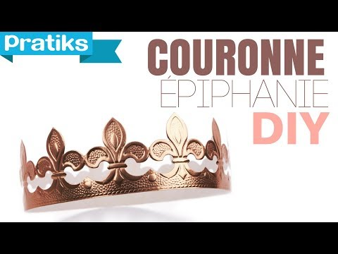 comment faire une couronne en papier epiphanie youtube. Black Bedroom Furniture Sets. Home Design Ideas