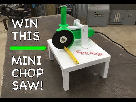 DIY Mini Chop Saw - Harbor Freight Angle Grinder - Homemade - Dewalt - Makita - Milwaukee