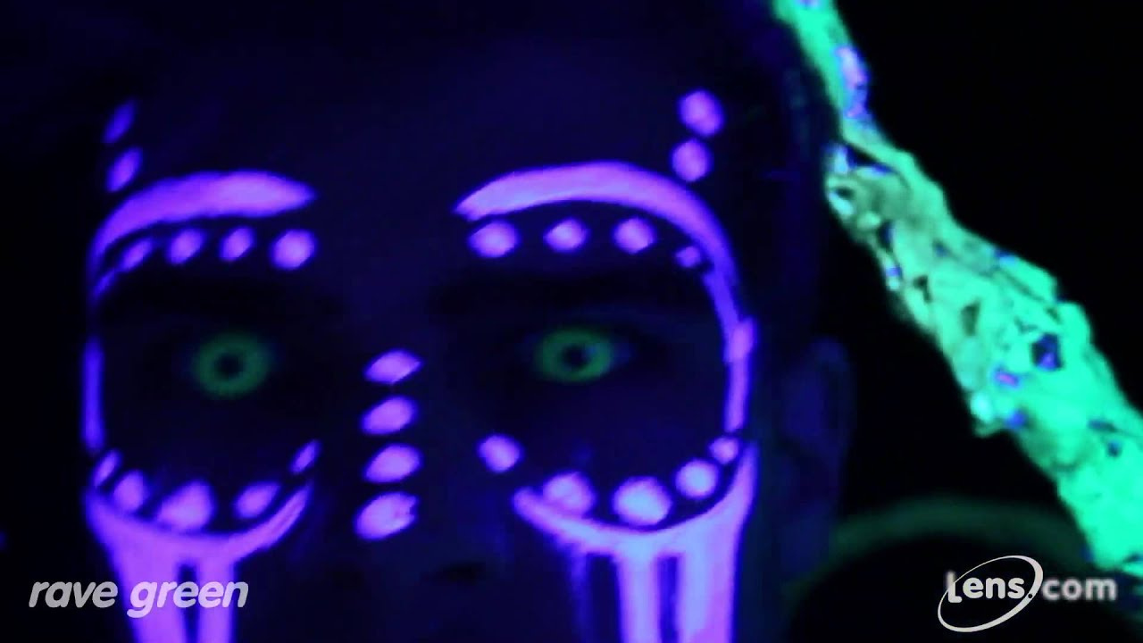 Rave Green (Glow in the Dark) Contact Lenses at Lens.com ...