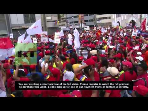Venezuela: Sea of red sweeps Caracas in support of Maduro