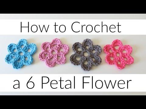 How to Crochet a 6 Petal Flower