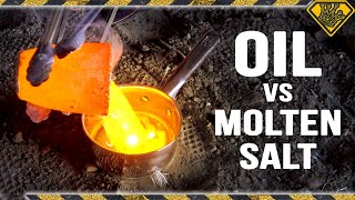 Molten Salt Dropped in Oil