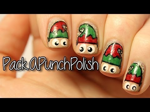 Peeking Elf Nail Art Tutorial