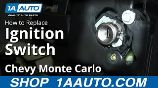 How To Replace Install Ignition Switch 2000-05 Chevy Monte
