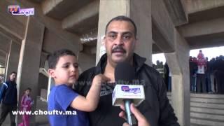 صرخة ودادي و ابنه في وجه الأمن الذي منعه من دخول الملعب | بــووز