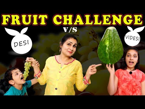 FRUIT CHALLENGE   Healthy Eating #Kids #Funny #Bloopers   Game for kids   Aayu and Pihu Show